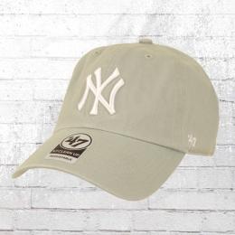 47 Brands NY Baseball Cap Clean Up Yankees Mütze grau