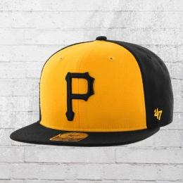 47 Brand Snapback Cap Pittsburgh Pirates Kappe MLB schwarz gelb
