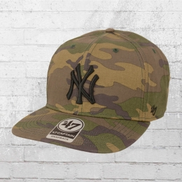quality design 58cab 624a7 47 Brands Snapback Grove Captain NY Yankees MLB Team Cap camouflage