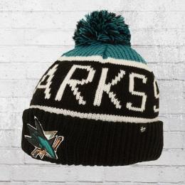8d02bfc536d 47 Brands Knitted Hat San Jose Sharks Pom Beanie black