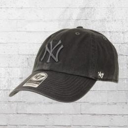47 Brands Team Cap New York Yankees Clean Up Mütze dunkelgrau