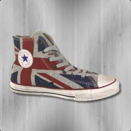 Converse Kinder Sneaker CT Hi UK Flag Chucks 640565 C red blue
