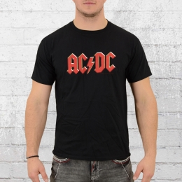 AC DC Männer Bandshirt Red Logo schwarz