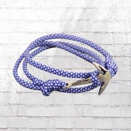 Ahoi Matrose Ando Anker Armband blau weiss