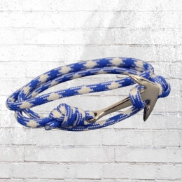 Ahoi Matrose Armband Amandus Anker-Band royal blau weiss