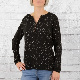 Alife and Kickin Ladies Shirt Daisy B Blouse black with stars
