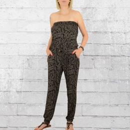 Alife and Kickin Damen Jumpsuit Joyce schwarz gemustert