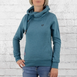 Alife and Kickin Damen Kapuzenpullover Sarah Dot blau