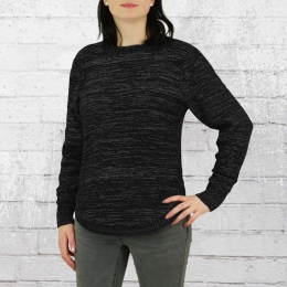 Alife and Kickin Damen Sweater Darja schwarz melange