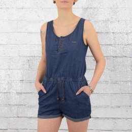Alife and Kickin Jeans Jumpsuit Josy Short denim blau