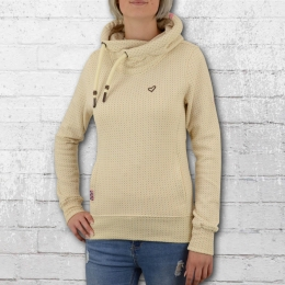 Alife and Kickin Kapuzenpullover Frauen Sarah Dot creme