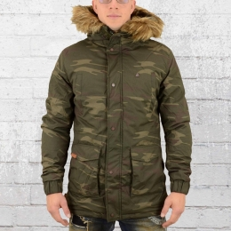 Alife and Kickin Parka Herren Winterjacke Ron camouflage
