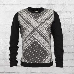 All About Eve Damen Sweater Bandana Pullover schwarz