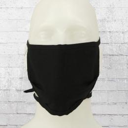 Allbag Baumwoll Maske mit Vliess Mund-Nasen-Schutz Gesichtsmaske schwarz