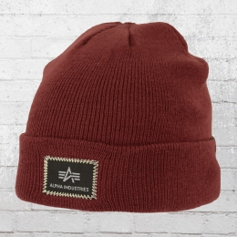 Alpha Industries Mütze X-Fit Beanie weinrot