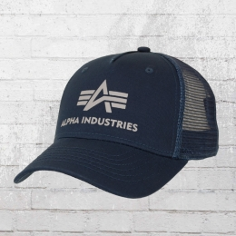 Alpha Industries Basic Trucker Cap navy blau