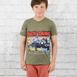 Alpha Industries Buck Danny Kinder T-Shirt Comic Air Base T oliv 164