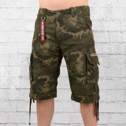 Alpha Industries Cargo Shorts Herren Jet oliv camouflage