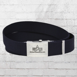 Alpha Industries Gürtel Heavy Duty Belt blau