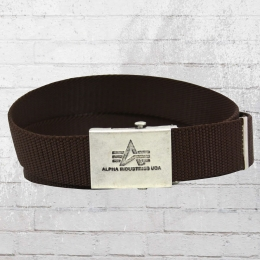 Alpha Industries Gürtel Heavy Duty Belt braun