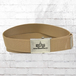 Alpha Industries Gürtel Heavy Duty Belt sand