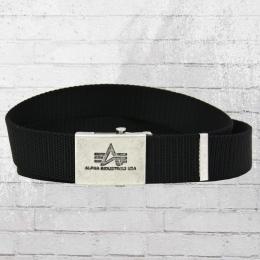 Alpha Industries Gürtel Heavy Duty Belt schwarz