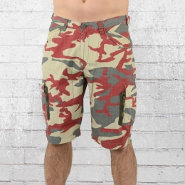 Alpha Industries Herren Army Shorts rot camouflage
