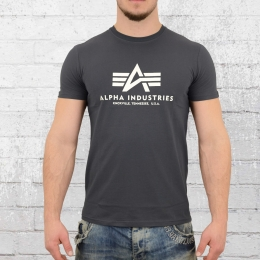 Alpha Industries Herren Basic T-Shirt dunkelgrau M