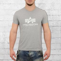 Alpha Industries Herren Basic T-Shirt grau melange