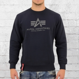 Alpha Industries Herren Sweatshirt Basic Sweater navy blau