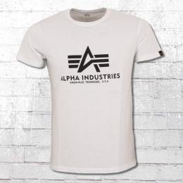 Alpha Industries Herren T-Shirt Basic T weiss
