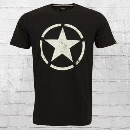 Alpha Industries Herren T-Shirt Star T schwarz