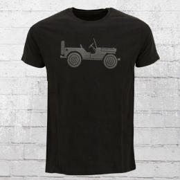 Alpha Industries Herren T-Shirt Willys T schwarz