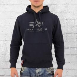 Alpha Industries Kapuzen Pullover Herren Basic Hoody blau