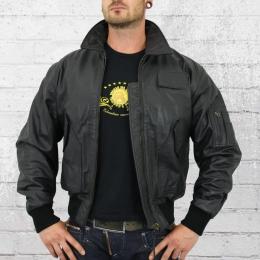 Alpha Industries Lederjacke CWU Leather schwarz