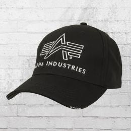 Alpha Industries Logo Cap schwarz