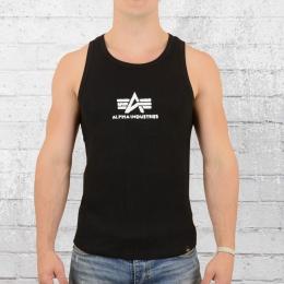 Alpha Industries Logo Tank Top schwarz weiss