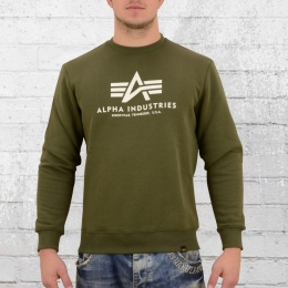 Alpha Industries Männer Basic Sweater dunkel grün