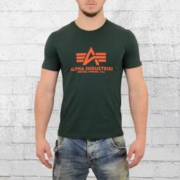 Alpha Industries Männer Basic T-Shirt dunkelgrün