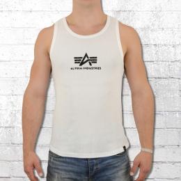 Alpha Industries Männer Logo Tank Top weiss schwarz