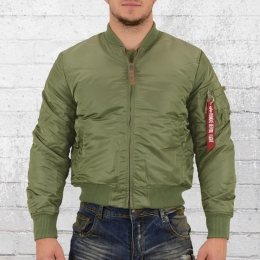 Alpha Industries Männer Pilotenjacke MA 1 VF 59 grün