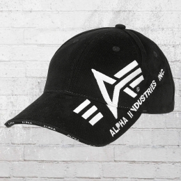 Alpha Industries Sandwich Cap Big A Cross schwarz