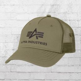 Alpha Industries Snapback Kappe Basic Trucker Cap oliv