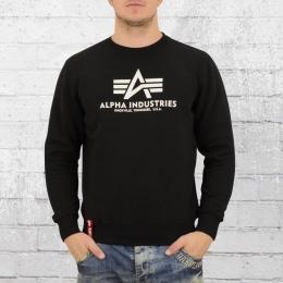 Alpha Industries Sweatshirt Männer Basic Sweater schwarz