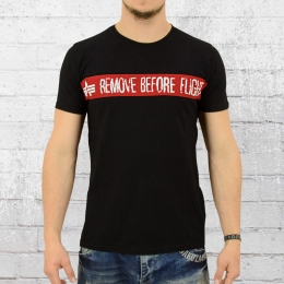 Alpha Industries T-Shirt Herren RBFT schwarz