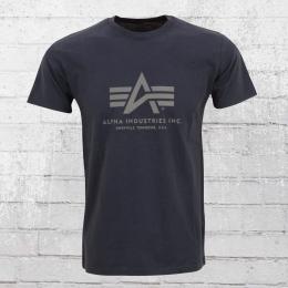 Alpha Industries T-Shirt Männer Basic T dunkelblau
