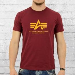 Alpha Industries T-Shirt Männer Basic T weinrot