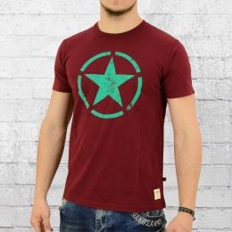 Alpha Industries T-Shirt Star T Herren weinrot