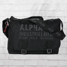 Alpha Industries Tasche Courier Bag 101916 Oxford Cargo schwarz