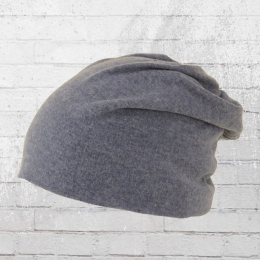 AOP Long Beanie Mütze blau melange